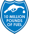 Burned 10M pounds of fuel